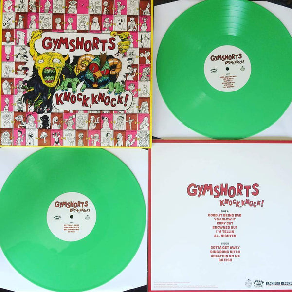 GYMSHORTS - KNOCK KNOCK (GREEN LP) - Wallflower Records