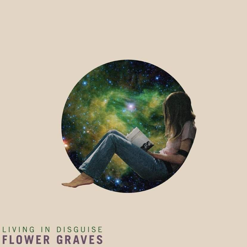 "Flower Graves - ""Living in Disguise"" (Dark Blue/Black ""Galaxy Swirl"" LP) - Wallflower Records"