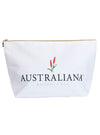 Australiana Botanicals canvas cosmetic bag