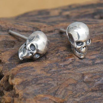5fcff74cd SKULL FACTORY™ Bare Skull 925 Sterling Silver Earrings