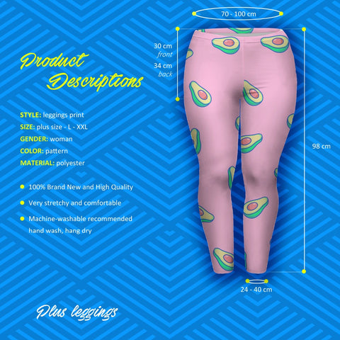 7fa0ff3466a15 Pink Avocado Leggings – PrettyWow Online Shop