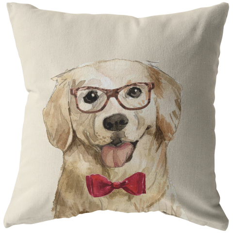 Golden Retriever Portrait Pillow