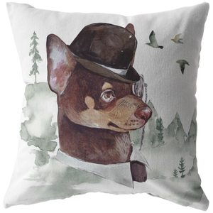 Chihuahua Pillow | Vintage Dog Decor | Chi Lovers Gift