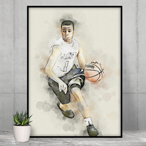 Senior Portrait Print | Family Sport Portrait | 2020 University Sport Team Portrait | Dorm Art