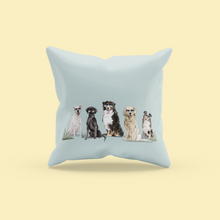 Load image into Gallery viewer, Summer Dog Pillow | Dogs with Sunglasses | Pet Throw Pillow | Gift for Pet Lovers | Pet Loss Gift