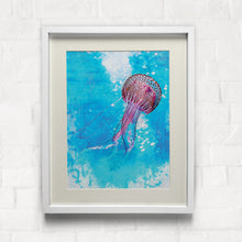 Load image into Gallery viewer, Jellyfish Print Aqua Pink color