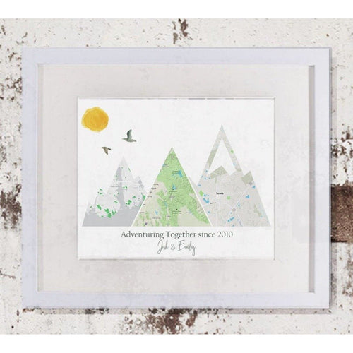 Adventure Mountain Map Print