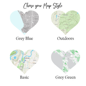 Custom City or Town Map | Map of My Home Town | Christmas Gift for New Homeowner | 1st Anniversary Gift