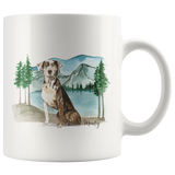 Custom Adventure Dog Mug | Gift for Dog Owner | Mountain Dog | Outdoor Dog Lovers Present | Pet Memorial Gift