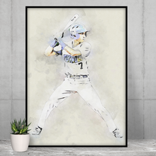 Load image into Gallery viewer, Baseball Player Portrait