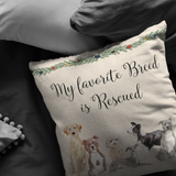 Rescue Dog Gift | Christmas Pillow for Dog Lovers | Adopt Don't Shop Decor