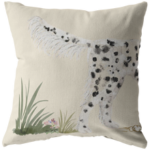 Load image into Gallery viewer, Llewellin Setter Pillow | Black and White English Setter | Decor for Setter Owners | Gun Dog Art