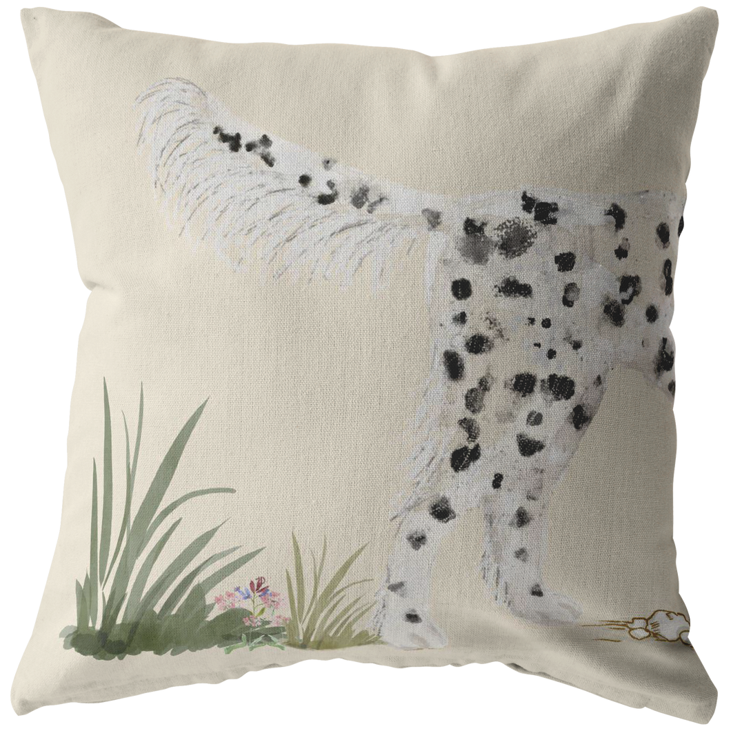 Llewellin Setter Pillow | Black and White English Setter | Decor for Setter Owners | Gun Dog Art