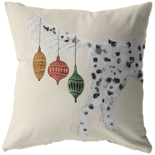 Load image into Gallery viewer, Llewellin Setter Dog Christmas Pillow