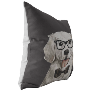Golden Retriever Watercolor Pillow
