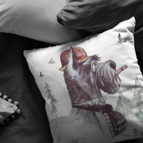 Scottie Throw Pillow | Scottish Terrier Home Decor | Unique Furbaby Art