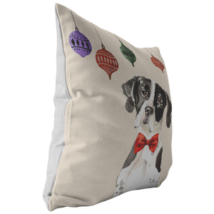 German Short Haired Pointer Christmas Pillow
