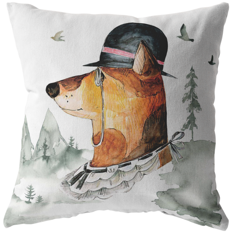 Hound Throw Pillow | Vintage Style Home Decor | Gentleman Vintage Art and Decor items