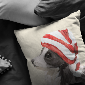 Collie Christmas Pillow | Sheep Dog Pillow