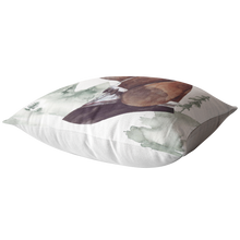 Load image into Gallery viewer, Basset Hound Throw Pillow | Vintage Look Home Decor | Pet Portrait Art & Decor