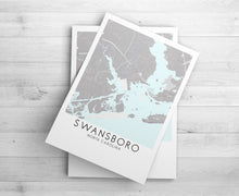 Load image into Gallery viewer, Custom City or Town Map | Map of My Home Town | Christmas Gift for New Homeowner | 1st Anniversary Gift