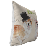 Welsh Corgi Gift | Dog Christmas Pillow | Pet Portrait Pillow