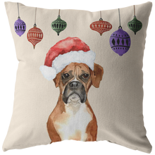 Load image into Gallery viewer, Boxer Dog Christmas Pillow | Dog Lovers Gift | Christmas Gift for Her
