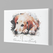 Load image into Gallery viewer, Pet Canvas Wall Art | Pet Lovers Gift | Dog Memorial Art