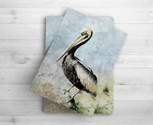Load image into Gallery viewer, Pelican Print | Art for Beach House | Water Inspired Print | Ocean Life Art Print