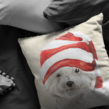 Load image into Gallery viewer, Bichon Frise Christmas Pillow