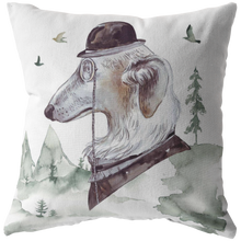 Load image into Gallery viewer, Russian Wolf Hound | Vintage Decor Pillow | Unique Pet Art