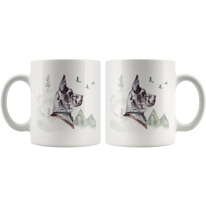 Great Dane Mug White | Unique Vintage Art | Pet Portrait Mug