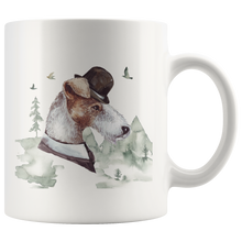 Load image into Gallery viewer, Wire Haired Fox Terrier Decor | Vintage style Mug | Pet Portrait Cup