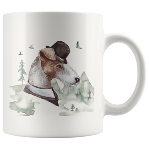 Wire Haired Fox Terrier Decor | Vintage style Mug | Pet Portrait Cup