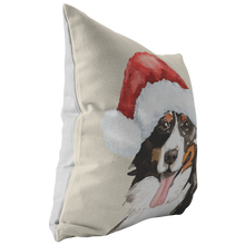 Load image into Gallery viewer, Bernese Mountain Dog Holiday Pillow | Christmas Throw Cushion | Berner Mom & Dad Gift