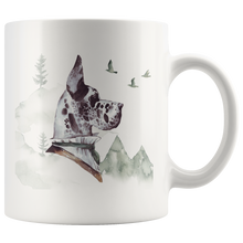Load image into Gallery viewer, Great Dane Mug White | Unique Vintage Art | Pet Portrait Mug