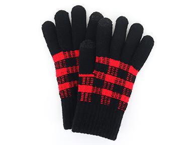 Buffalo Plaid Texting Gloves