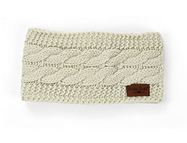 Cable Knit Plush-Lined Headwarmer