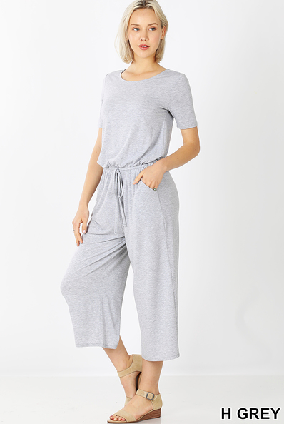 Capri Jump Suit- Grey
