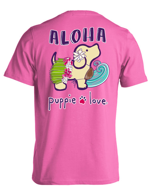 Puppie Love- Aloha Pups Short Sleeve