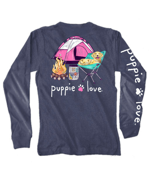 Puppie Love- Campfire Pup Long Sleeve Sleeve