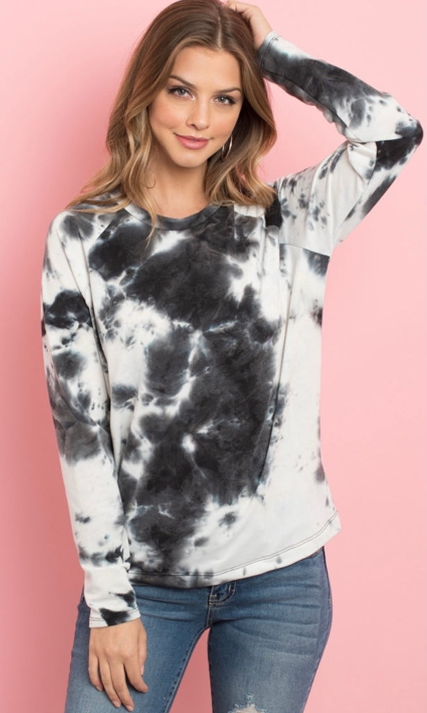 Black Tie Dye Long Sleeve