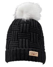 Knit fleece lined Pom Pom Hat