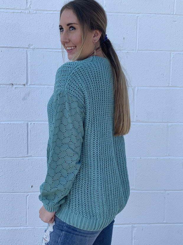 Knit Sweater in Sea foam