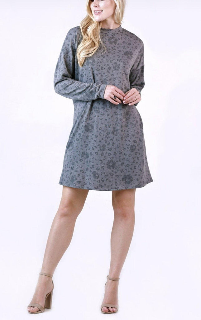 Grey Animal Dress *