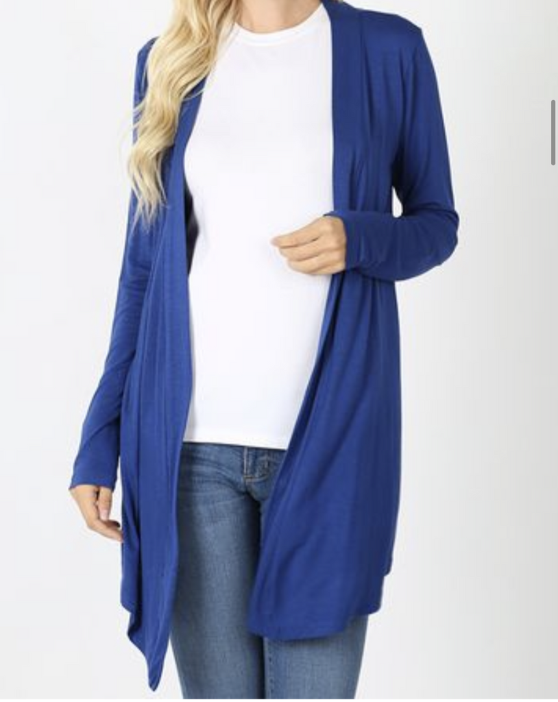 Open Front Cardigan-Sapphire *