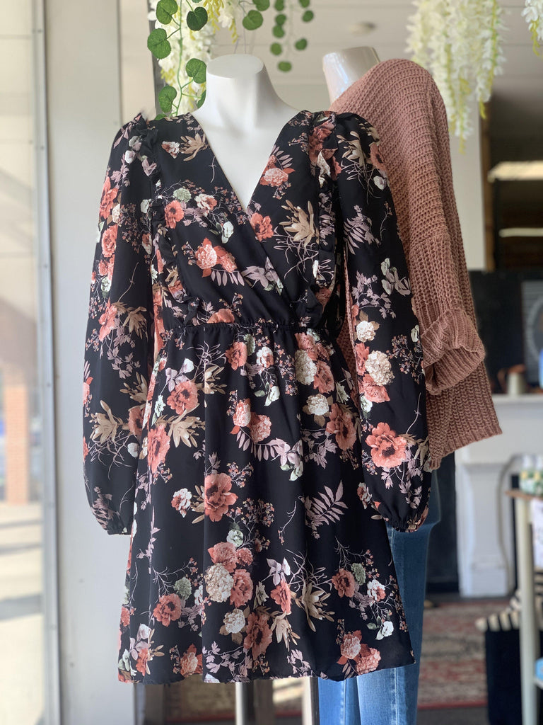 Floral long sleeve Dress