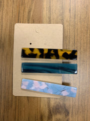 Set of 3 Hair Clips