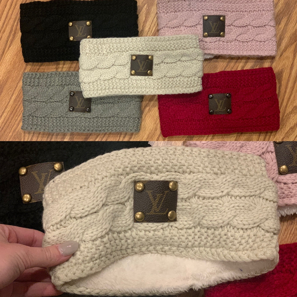 LV upcycled ear warmer