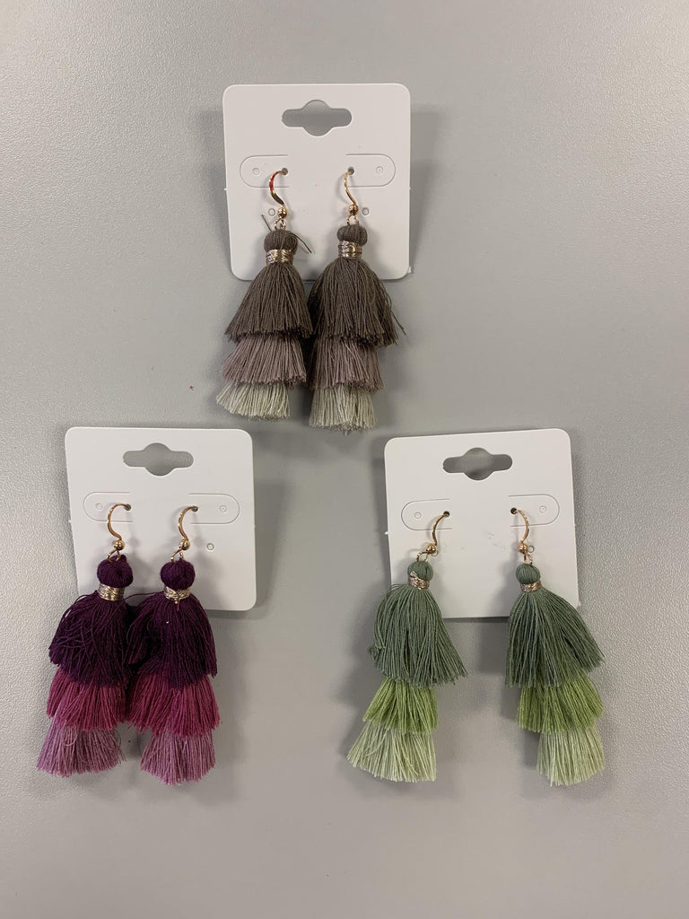 Three Tier Tassel Earring